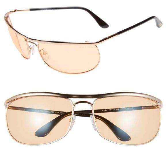 New TOM FORD Ryder Rose Gold Orange Sunglasses